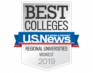 US News shield for best colleges regional universities midwest 2019