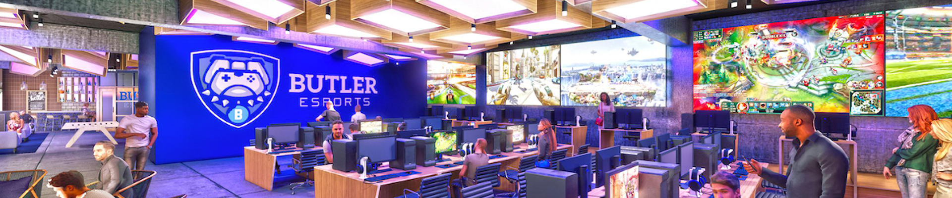 Concept art for Butler's esports facility